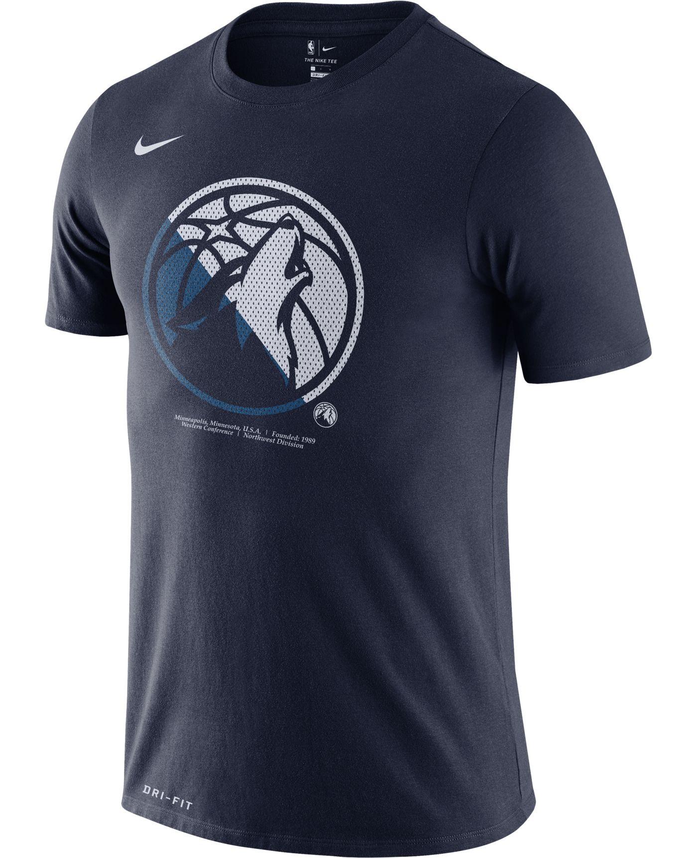 Nike Men's Minnesota Timberwolves Dri-FIT Split Logo T-Shirt