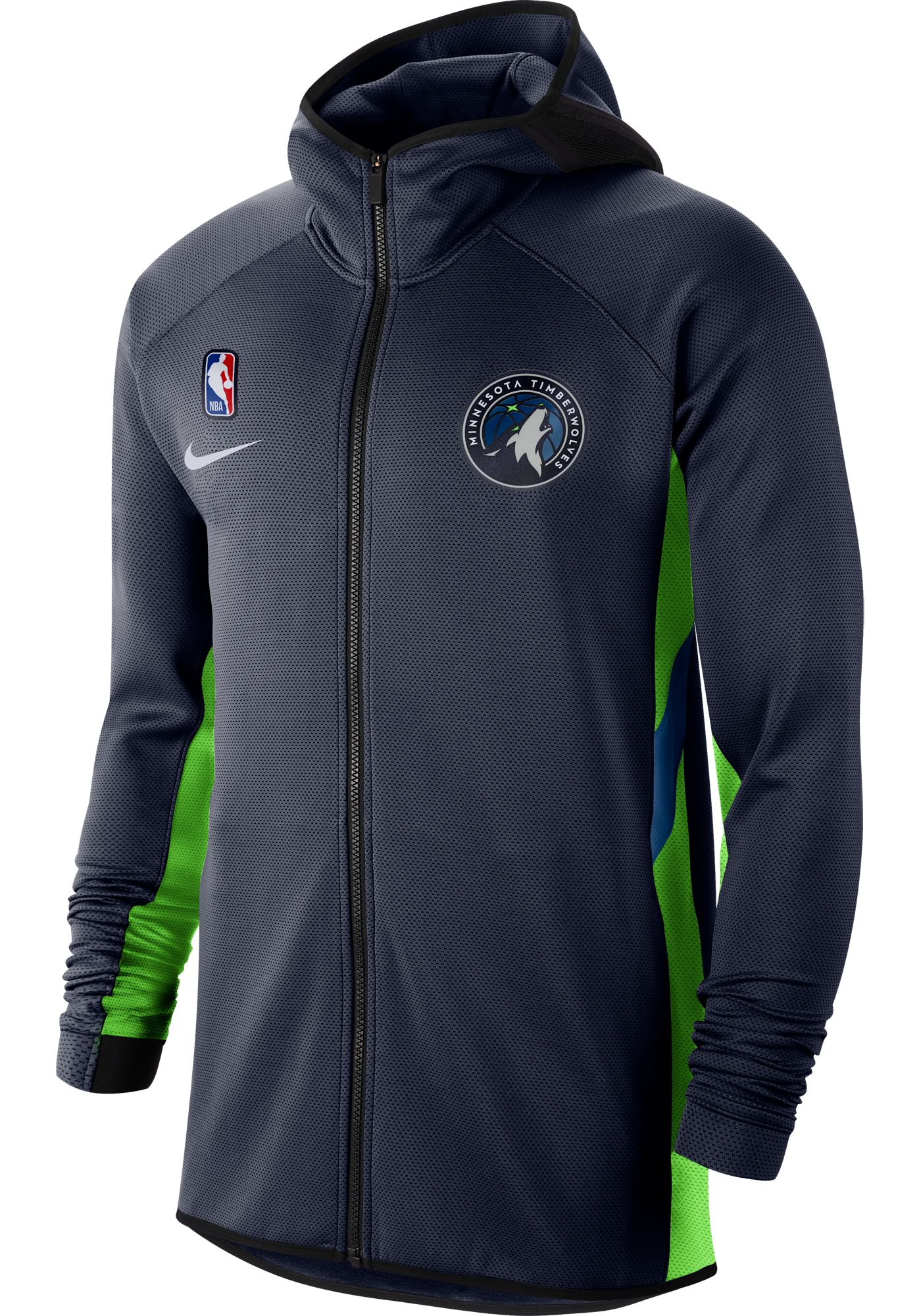 Nike Men's Minnesota Timberwolves On-Court Therma Flex Showtime Full-Zip Hoodie