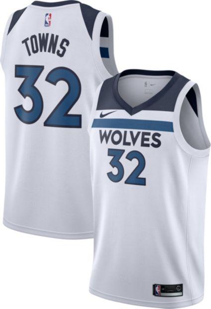 c66eff291 Nike Men s Minnesota Timberwolves Karl-Anthony Towns  32 White Dri-FIT  Swingman Jersey. noImageFound