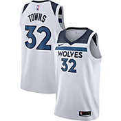 Nike Men's Minnesota Timberwolves Karl-Anthony Towns #32 White Dri-FIT Swingman Jersey