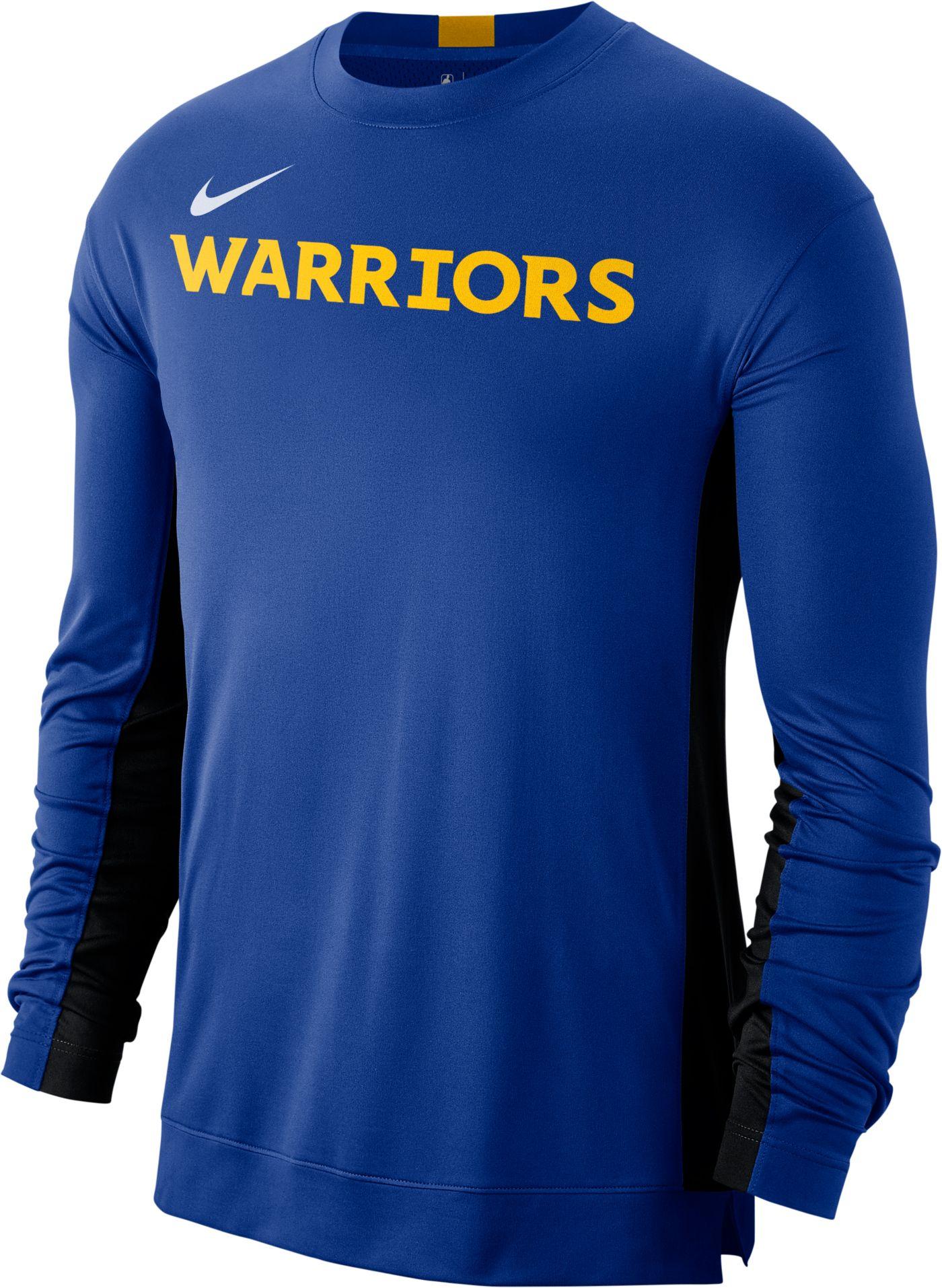 Nike Men's Golden State Warriors Dri-FIT Long Sleeve Shooting  Shirt