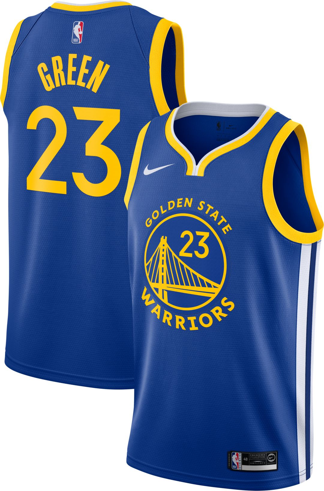 size 40 7f743 7419d Nike Men's Golden State Warriors Draymond Green #23 Royal Dri-FIT Swingman  Jersey