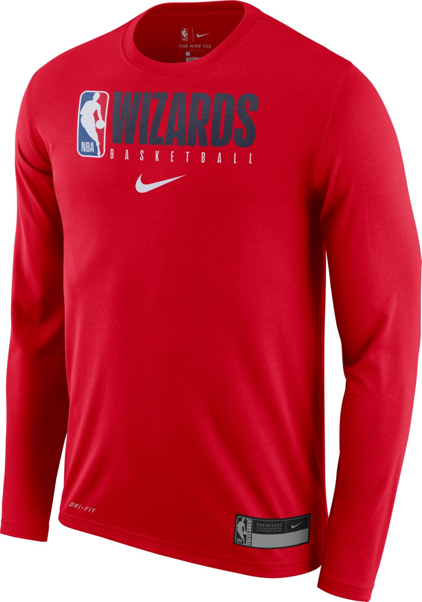 Nike Men's Washington Wizards Dri-FIT Practice Long Sleeve Shirt