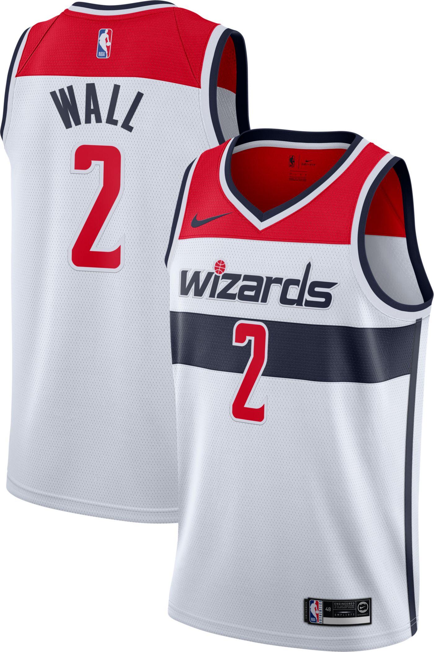Nike Men's Washington Wizards John Wall #2 White Dri-FIT Swingman Jersey