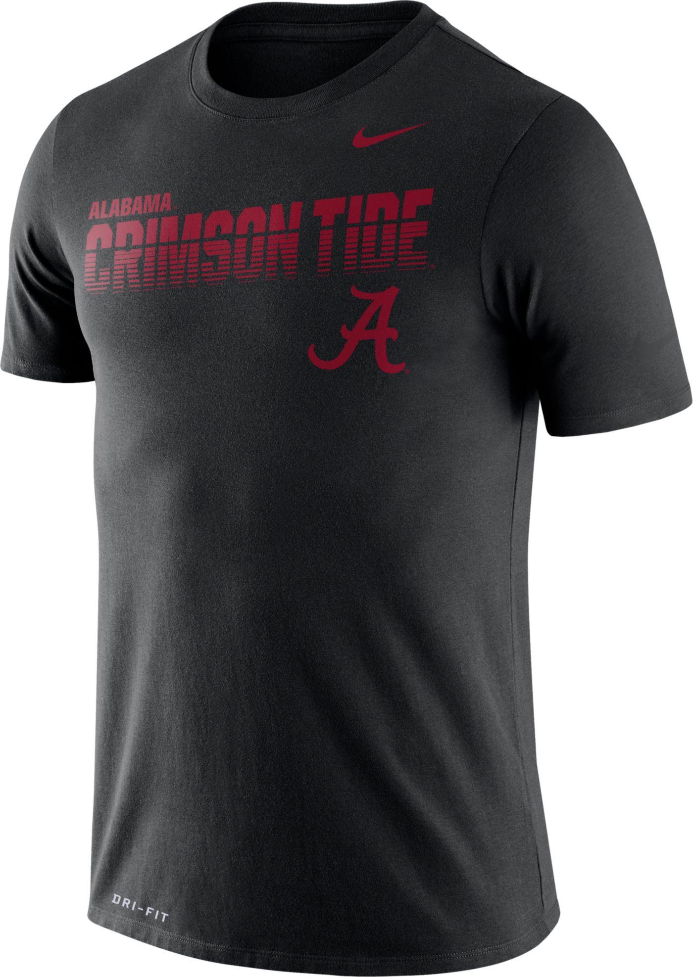 Nike Men's Alabama Crimson Tide Legend Football Sideline Black T-Shirt