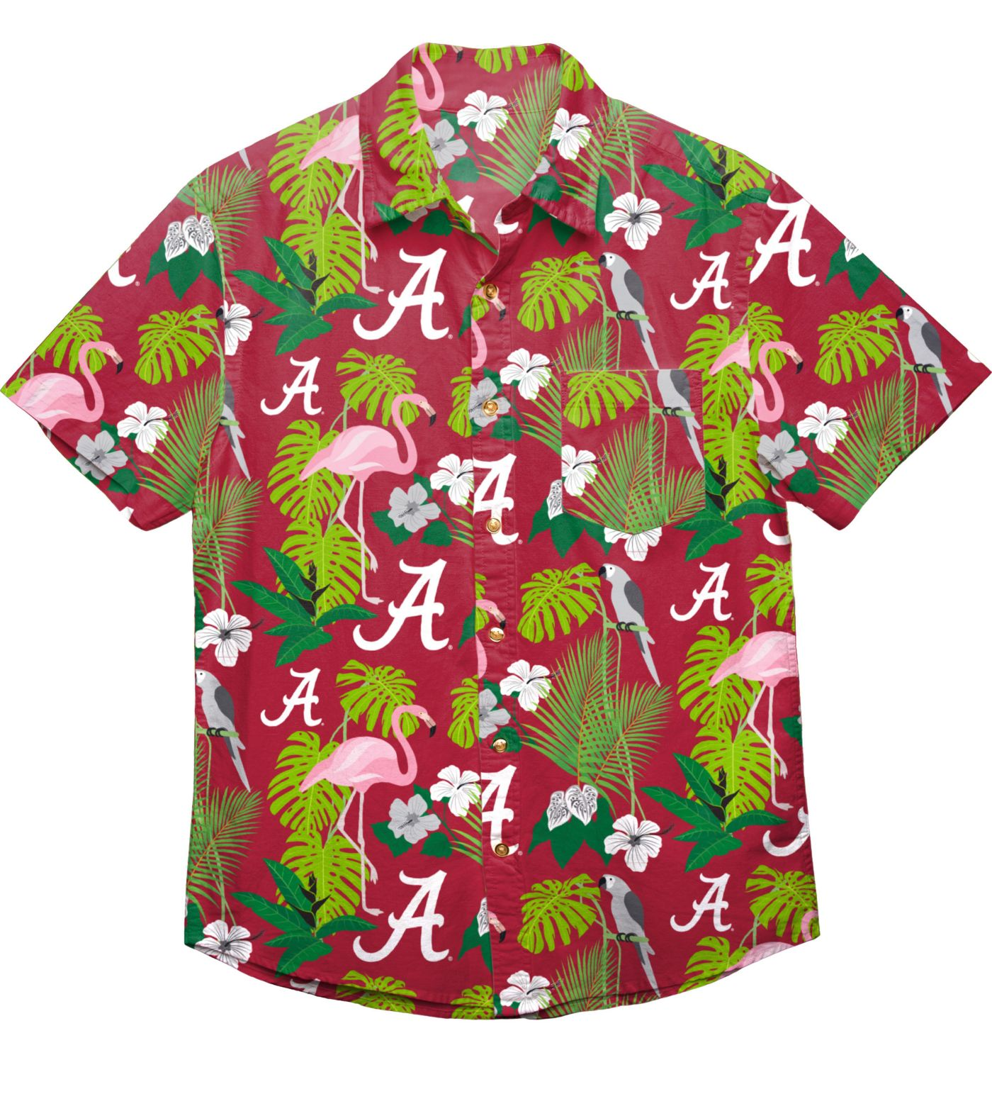 FOCO Men's Alabama Crimson Tide Crimson Floral Button-Up Shirt