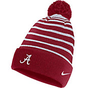 Nike Men's Alabama Crimson Tide Crimson Football Sideline Cuffed Pom Beanie