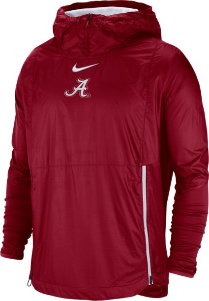 f0cf4af61bf48 Nike Men s Alabama Crimson Tide Crimson Pullover Fly Rush Jacket ...