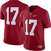 Nike Men's Alabama Crimson Tide #17 Crimson Game Football Jersey