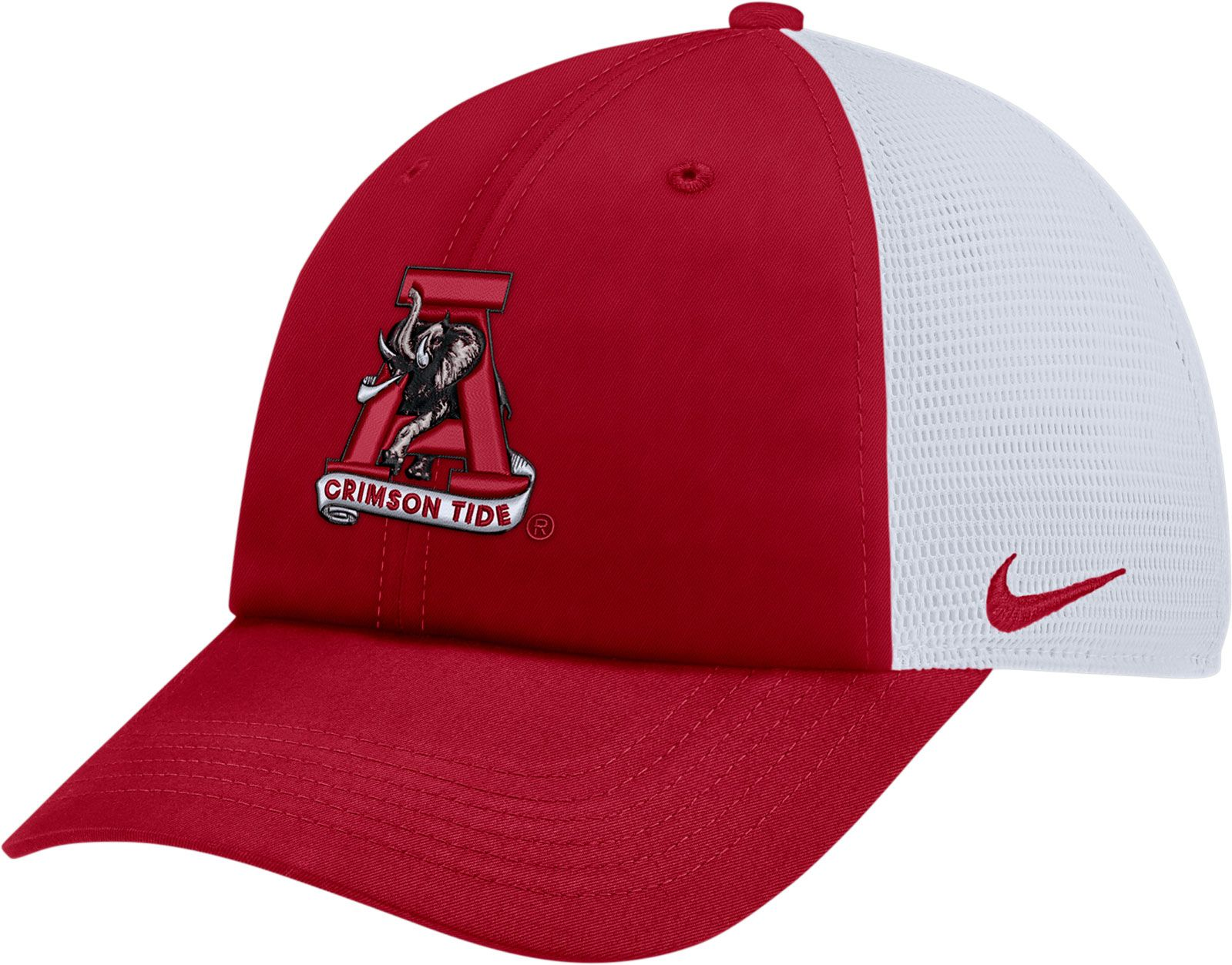 new arrival c929a d41af closeout nike mens alabama crimson tide crimson heritage86 adjustable trucker  hat 90b32 34e76