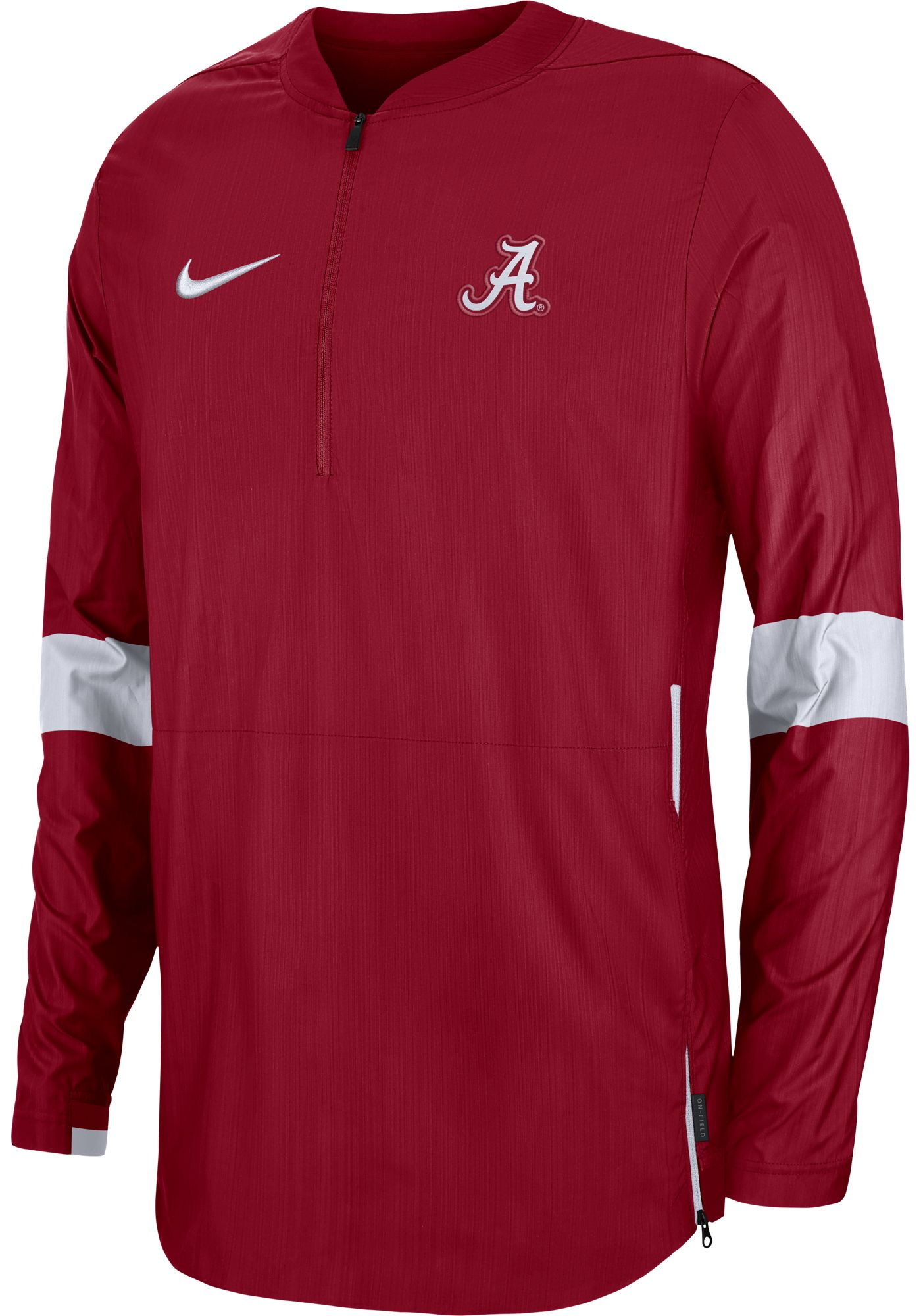 Nike Men's Alabama Crimson Tide Crimson Lockdown Half-Zip Football Jacket