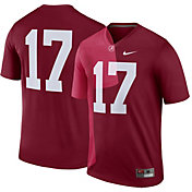 Nike Men's Alabama Crimson Tide #17 Crimson Legend Football Jersey