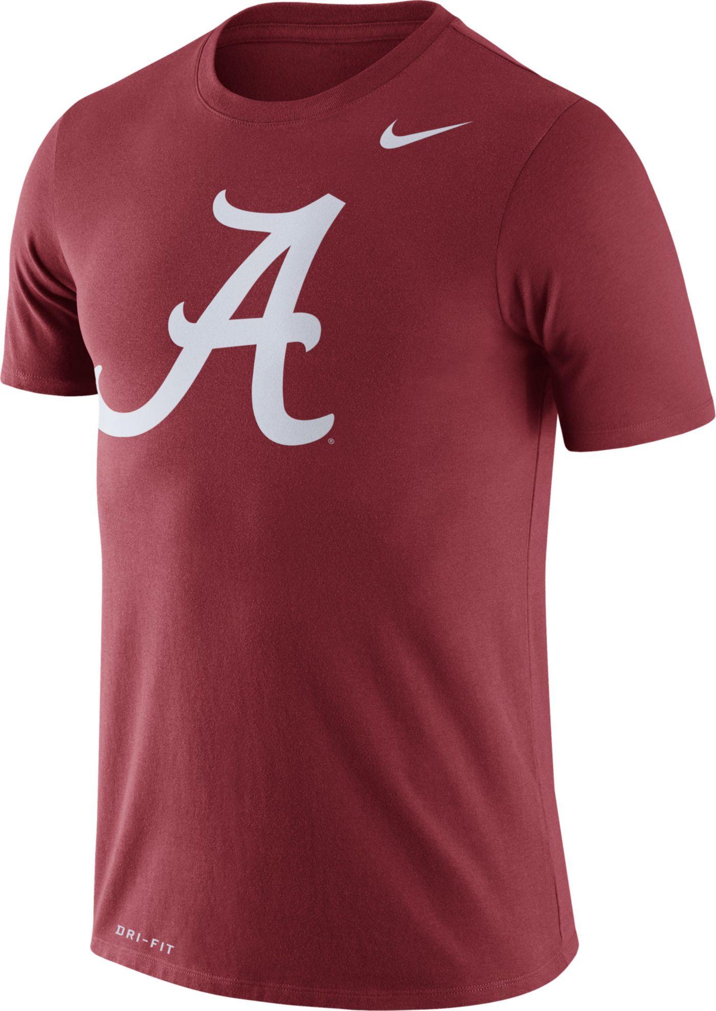 Nike Men's Alabama Crimson Tide Crimson Logo Dry Legend T-Shirt