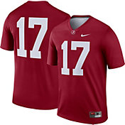 Nike Men's Alabama Crimson Tide #17 Crimson Dri-FIT Legend Football Jersey