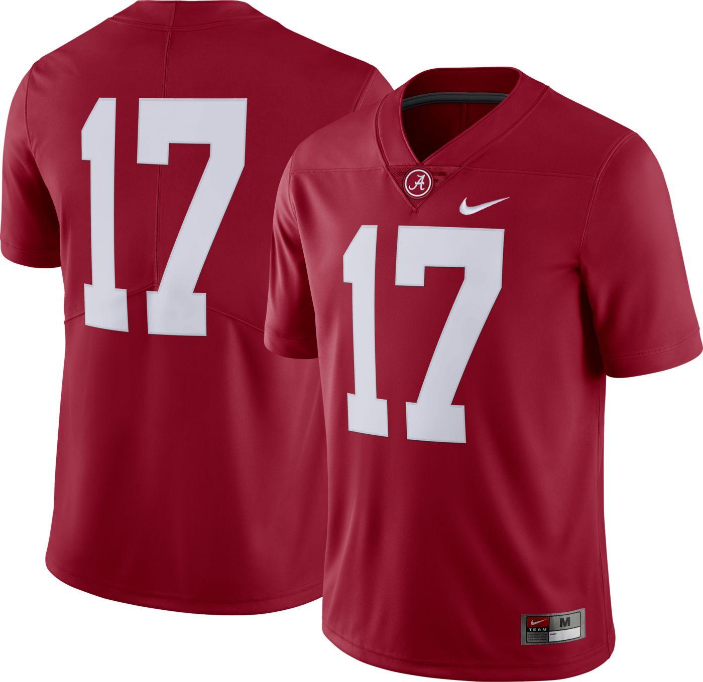 Nike Men's Alabama Crimson Tide #17 Crimson Dri-FIT Limited Football Jersey
