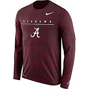 Nike Men's Alabama Crimson Tide Crimson Velocity Legend Graphic Long Sleeve T-Shirt