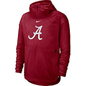Nike Men's Alabama Crimson Tide Crimson Repel Football Sideline Player Pullover Hoodie