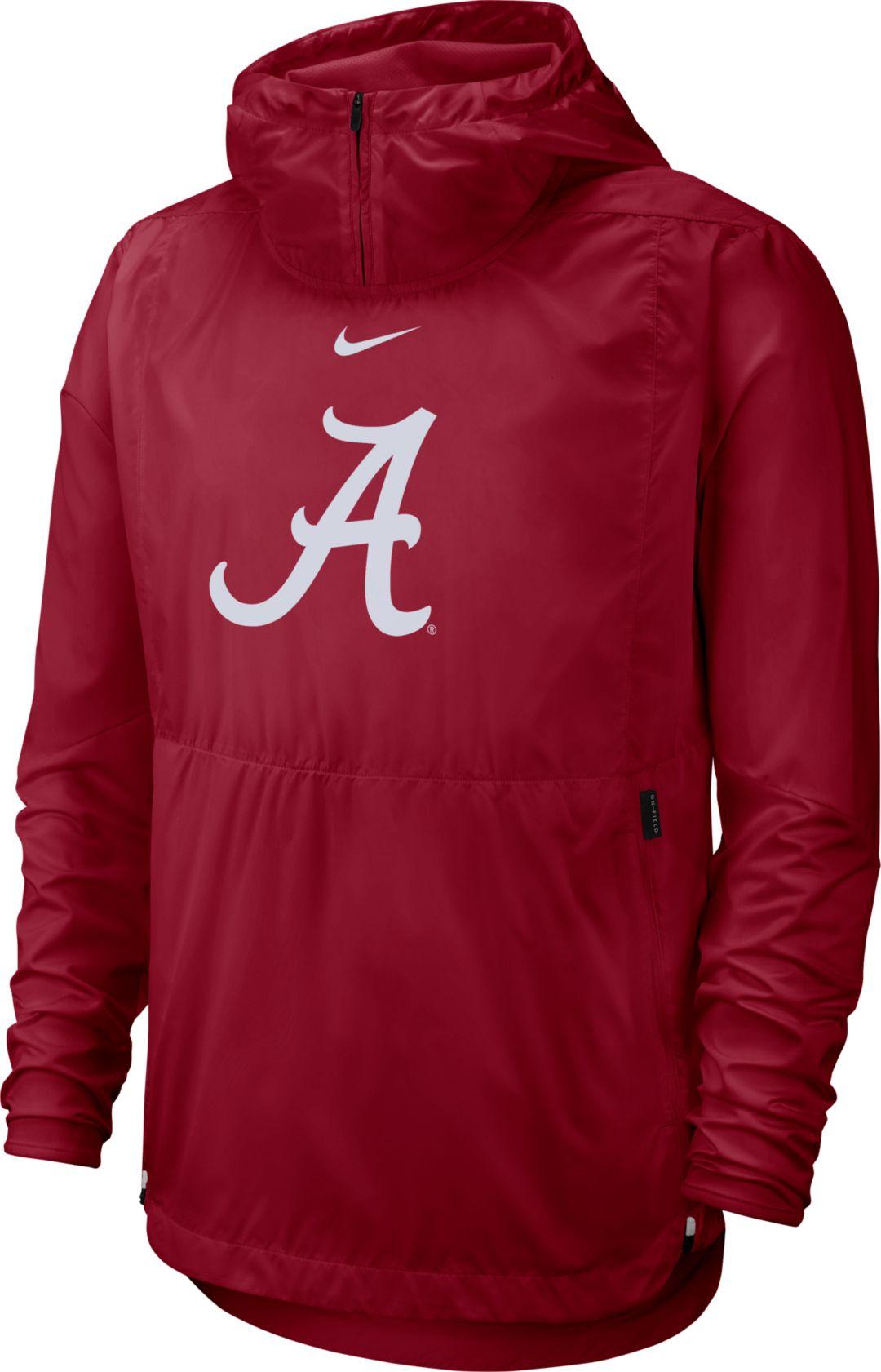 online store 7b2e9 f9d27 Nike Men's Alabama Crimson Tide Crimson Repel Football Sideline Player  Pullover Hoodie