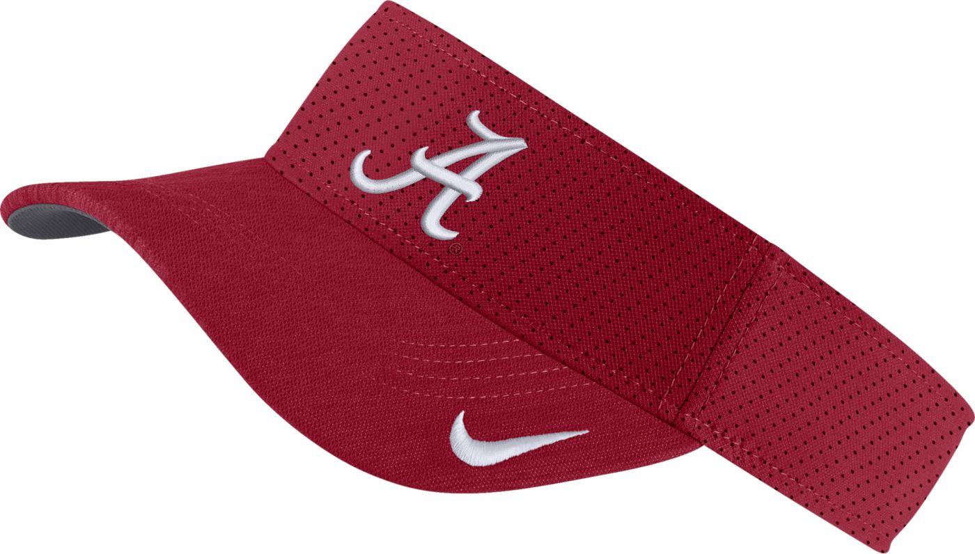Nike Men's Alabama Crimson Tide Crimson AeroBill Football Sideline Visor