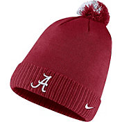 Nike Men's Alabama Crimson Tide Crimson Football Sideline Pom Beanie