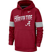 Nike Men's Alabama Crimson Tide Crimson Therma Football Sideline Pullover Hoodie