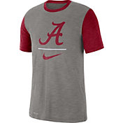 Nike Men's Alabama Crimson Tide Grey Dri-FIT Baseball Slub T-Shirt