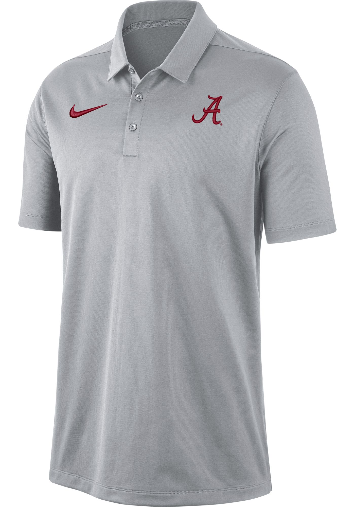 Nike Men's Alabama Crimson Tide Grey Dri-FIT Franchise Polo