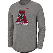 Nike Men's Alabama Crimson Tide Grey Marled Raglan Long Sleeve T-Shirt