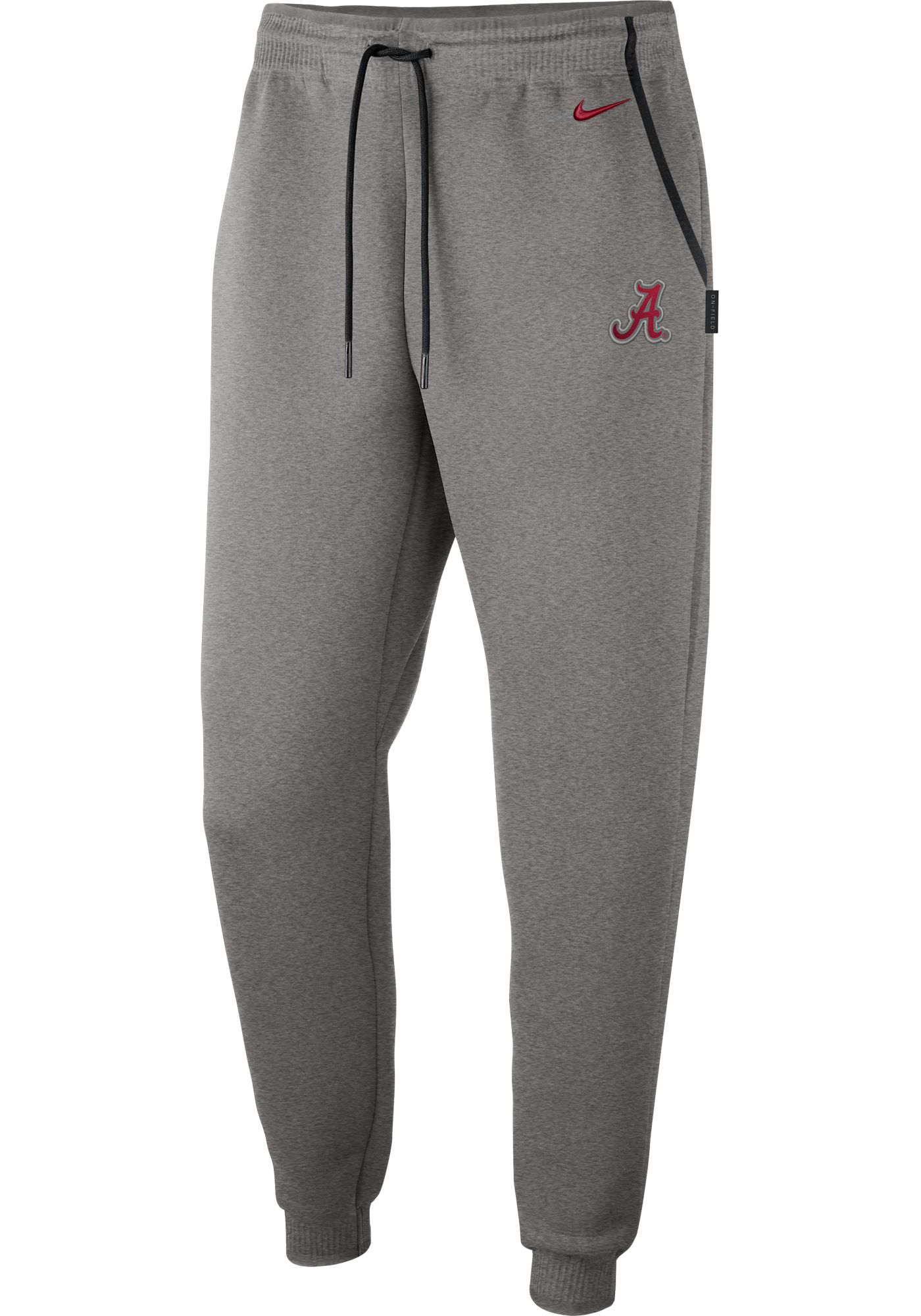 Nike Men's Alabama Crimson Tide Grey Dri-FIT Football Sideline Repel Pants