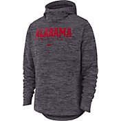Nike Men's Alabama Crimson Tide Grey Heathered Dri-FIT Spotlight Pullover Hoodie