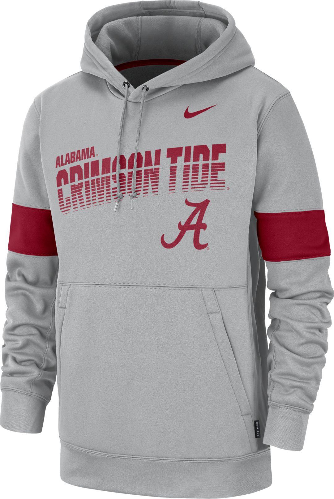 super popular 01eaa e0b39 Nike Men's Alabama Crimson Tide Grey Therma Football Sideline Pullover  Hoodie