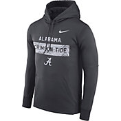 Nike Men's Alabama Crimson Tide Grey Therma-FIT Pullover Sideline Hoodie