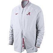 Nike Men's Alabama Crimson Tide Therma Hybrid Full-Zip White Jacket