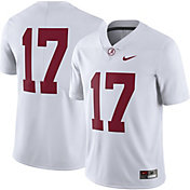 Nike Men's Alabama Crimson Tide #17 Limited Football White Jersey