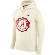 Nike Men's Alabama Crimson Tide Therma-FIT Rival White Pullover Hoodie