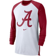 Nike Men's Alabama Crimson Tide White/Crimson Breathe Long Sleeve Shirt