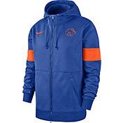 Nike Men's Boise State Broncos Blue Therma Football Sideline Full-Zip Hoodie