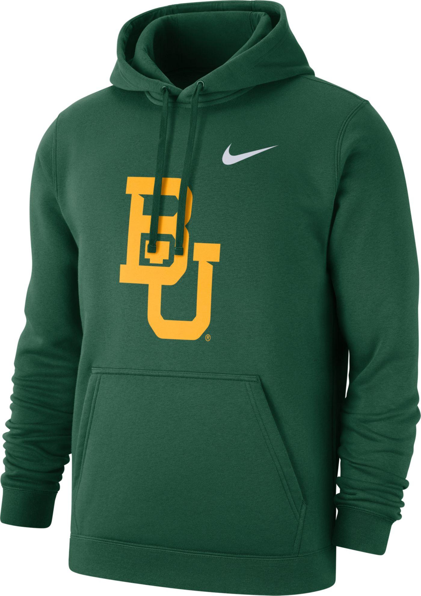 Nike Men's Baylor Bears Green Club Fleece Pullover Hoodie