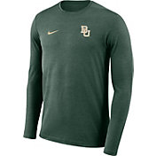 Nike Men's Baylor Bears Green Football Dri-FIT Coach Long Sleeve T-Shirt
