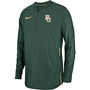 Nike Men's Baylor Bears Green Lockdown Football Quarter-Zip Jacket