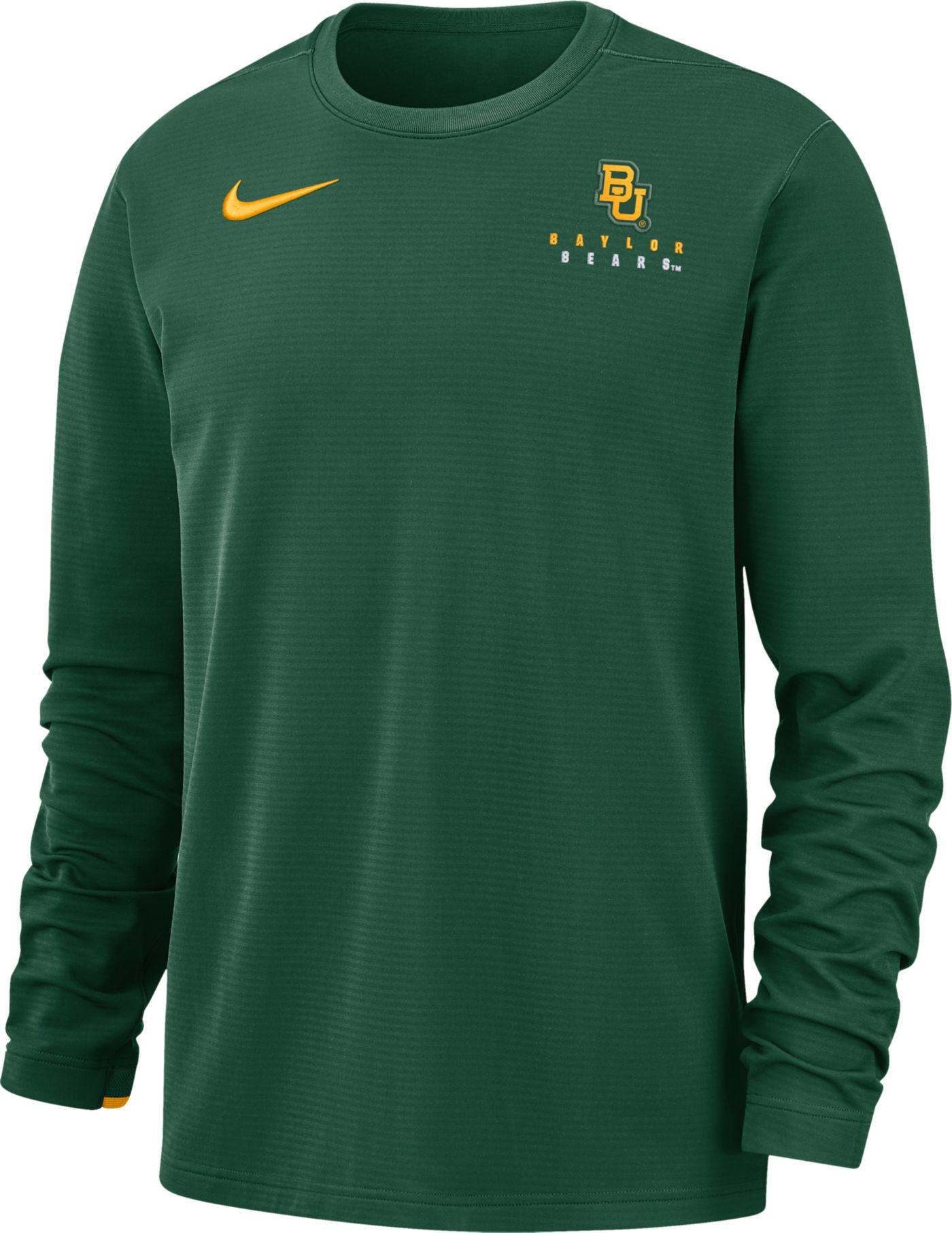 Nike Men's Baylor Bears Green Dri-FIT Modern Long Sleeve Crew Neck T-Shirt