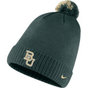 Nike Men's Baylor Bears Green Football Sideline Pom Beanie