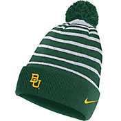 Nike Men's Baylor Bears Green Football Sideline Cuffed Pom Beanie