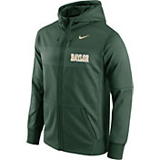 Nike Men's Baylor Bears Green Therma-FIT Full-Zip Sideline Hoodie