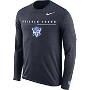 Nike Men's BYU Cougars Blue Velocity Legend Graphic Long Sleeve T-Shirt