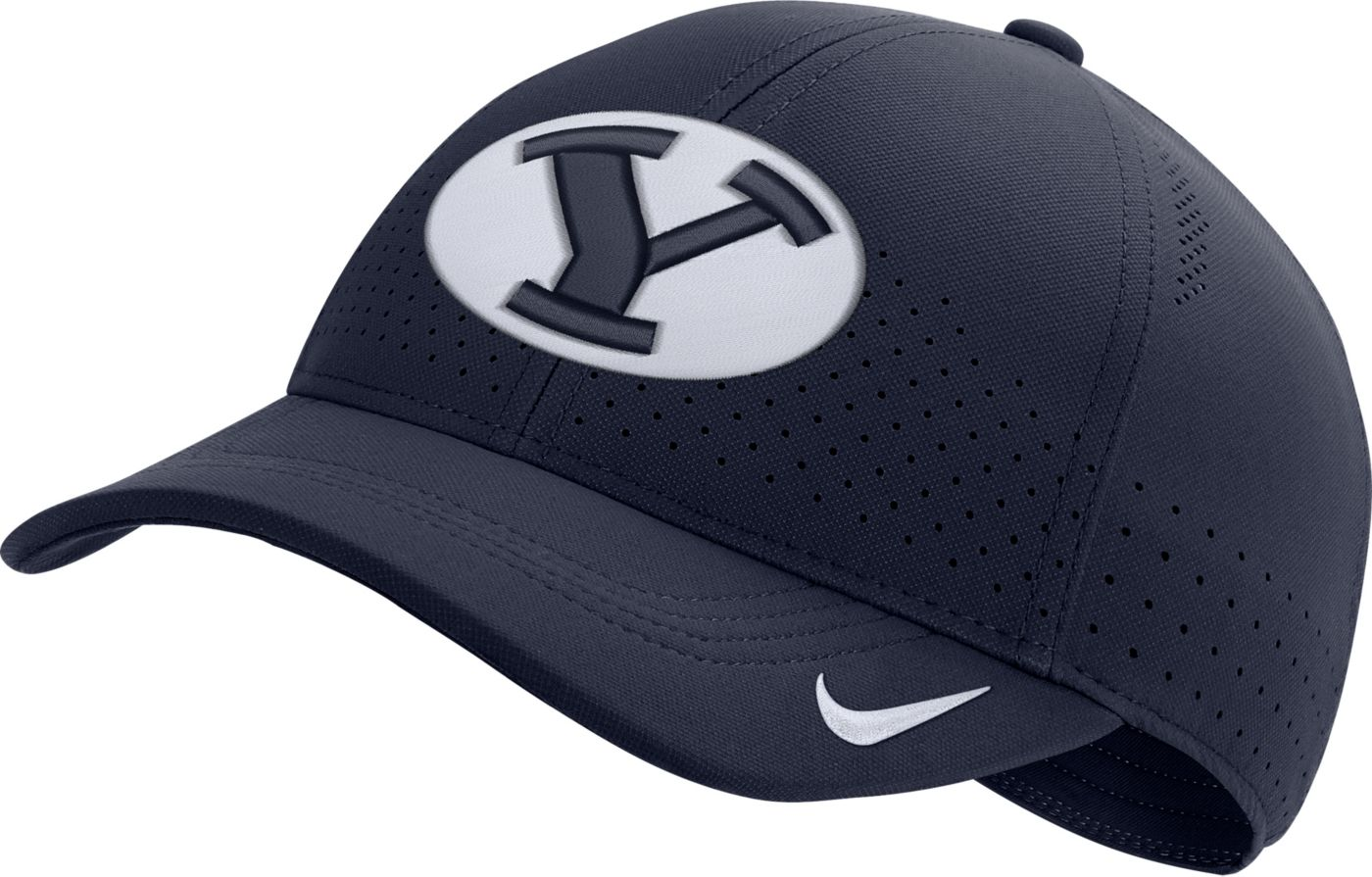 Nike Men's BYU Cougars Blue Aerobill Classic99 Football Sideline Hat