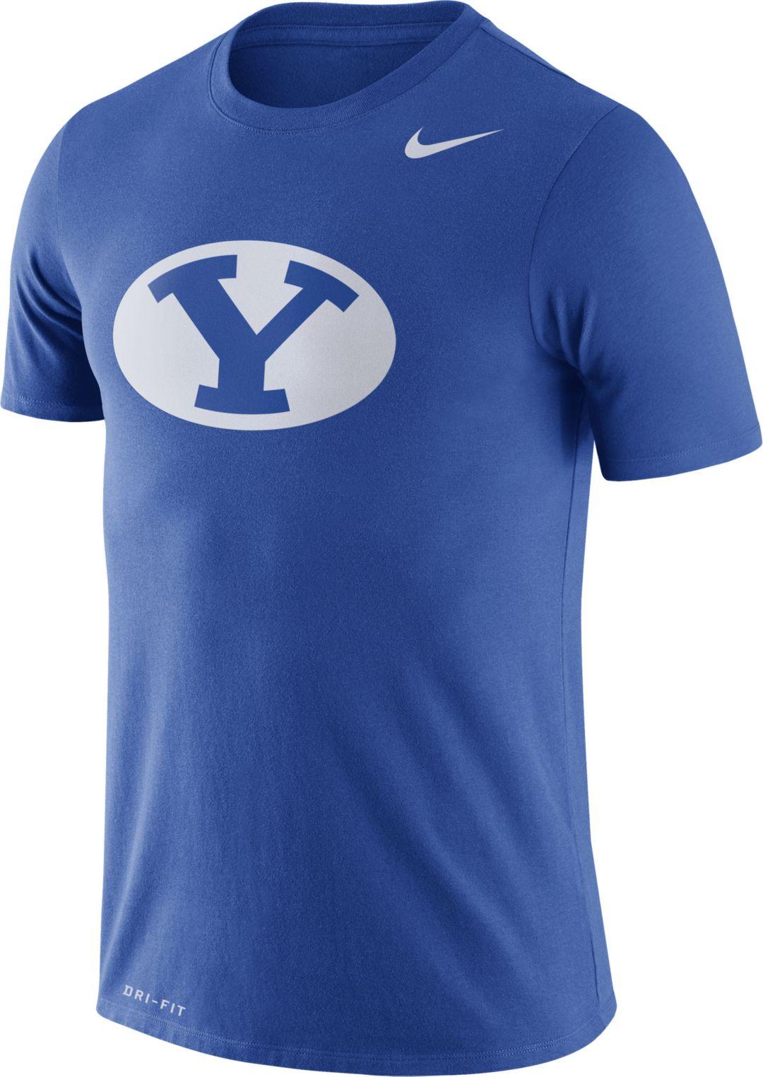 quality design 5fc92 33509 Nike Men's BYU Cougars Blue Logo Dry Legend T-Shirt