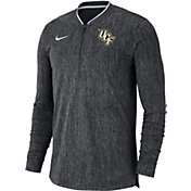 Nike Men's UCF Knights Grey Coach Half-Zip Football Sideline Jacket