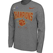 Nike Men's 2018 Goodyear Cotton Bowl Champions Locker Room Clemson Tigers Long Sleeve Shirt