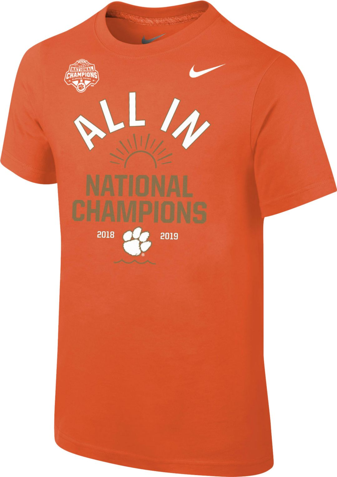 new styles a6722 a99f0 Nike Men s 2018 National Champions Clemson Tigers Celebration T-Shirt 1